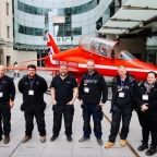 Identity arranged a full-size replica of the Royal Air Force Aerobatic Team's Hawk jet to publicise the Red Arrows' on BBC The One Show