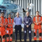 Air ambulance team with David Welch