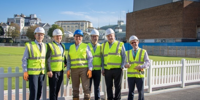 Economic board members tour Devonshire Quarter development