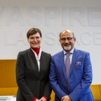 Divyendu Kumar with Vice-Chancellor Professor Karen Cox