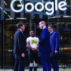 Brent Hoberman (Taskforce), James Okulaja (Young People's Panel), The Duke of Cambridge and Matt Brittin (Google)