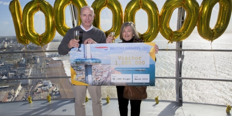 British Airways i360 welcomes its one millionth guest