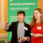Susannah Davidson, University Knowledge Exchange Manager (left), and Liz Johnson, University Knowledge Transfer Partnership Officer